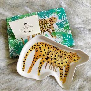 NWT {Rosanna} 'Feline Fine' Cheetah Trinket Dish